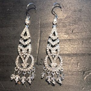 Monet rhinestone special occasion earrings